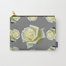 WHITE ROSES GARDEN DESIGN Carry-All Pouch