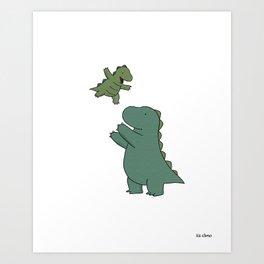 Rory & Dad Art Print