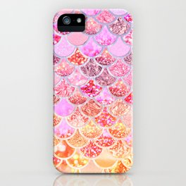 Rosegold & Gold Trendy Glitter Mermaid Scales iPhone Case