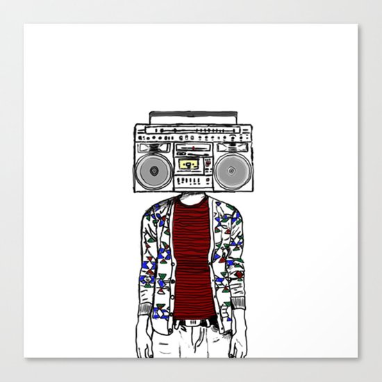 Radio daze Canvas Print