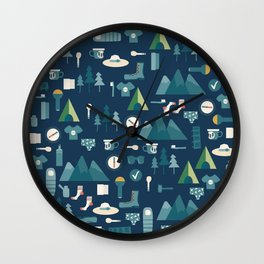 Hiking list Wall Clock