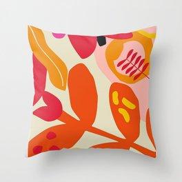 Flower Market Madrid Throw Pillow