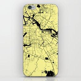 Amsterdam Yellow on Black Street Map iPhone Skin