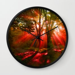 A Parting Of The Way Wall Clock