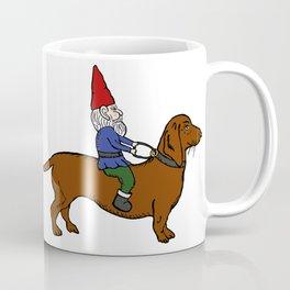 Gnome Riding a Dachshund Coffee Mug