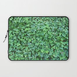 Green Clovers Nature Photo #GaneneKPhotogaphy #StPatricksDay Laptop Sleeve