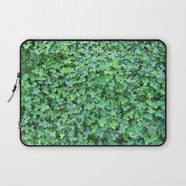 Green Clovers Nature Photo #GaneneKPhotogaphy #StPatricksDay Laptop Sleeve