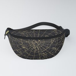 Golden Star Map Fanny Pack