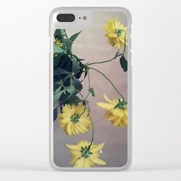 Rudbeckia retro Clear iPhone Case