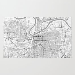 Kansas City Map Line Rug