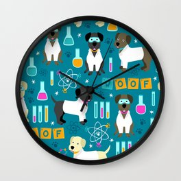 Lab Assistants Wall Clock