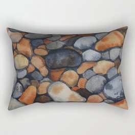 Pebbles on the shore Rectangular Pillow