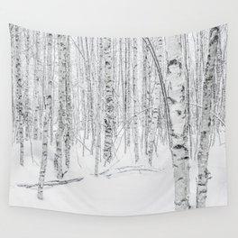 Swedish Birch Trees Wall Tapestry
