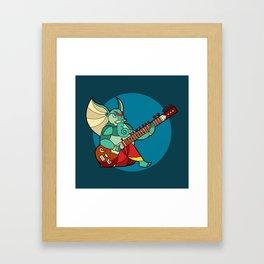 Ganesha Sitar Framed Art Print