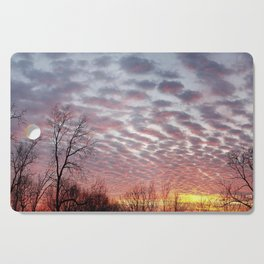 Winter sunset panorama - Hoyt Park, Madison, WI Cutting Board