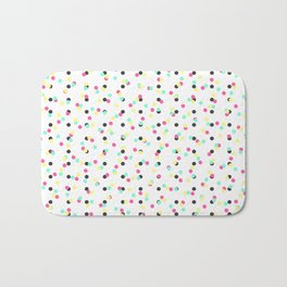 Retro 80's 90's Inspired Colorful Polka Dots Bath Mat