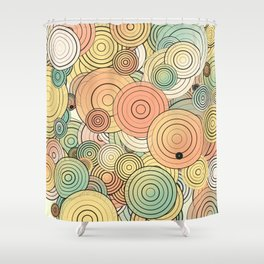 Layered circles Shower Curtain