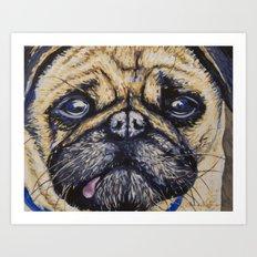 Emily's Pug Art Print