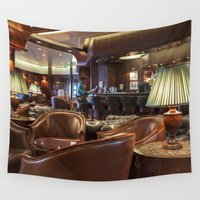 bar Wall Tapestries featuring Lounge Bar by Deborah Janke