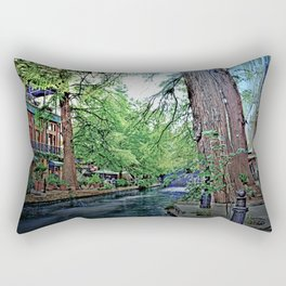 The River Walk Rectangular Pillow