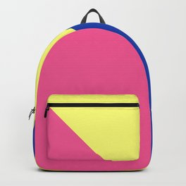 Modern contrast summer blue yellow pink color block Backpack