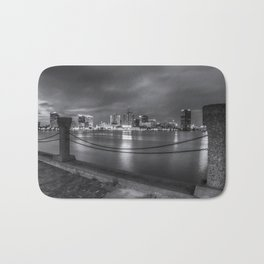 Norfolk Skyline II in Black and White Bath Mat