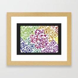 QR codes Framed Art Print