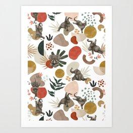 Elephant yoga 01 Art Print