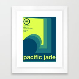 pacific jade single hop Framed Art Print