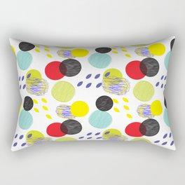 Dots party colorful bubble pattern design combined textures wrap Rectangular Pillow
