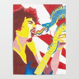 Carlos Santana LSD Electric Snakes Poster