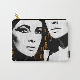 black & gold Cleo Carry-All Pouch