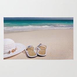 beach sandels Rug