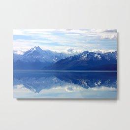 Lake Pukaki and Mount Cook Metal Print