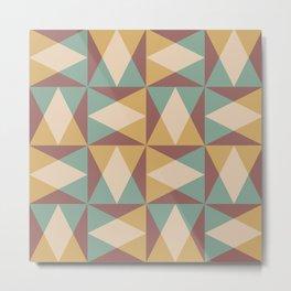 Mid Century Modern Geometric Pattern 546 Metal Print