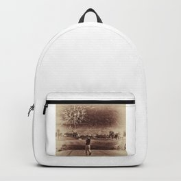 Broken Glass Sky Sepia Backpack