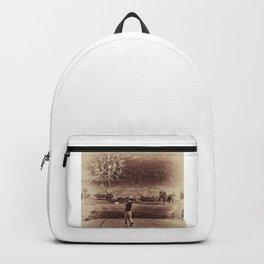 Broken Glass Sky Sepia Backpack