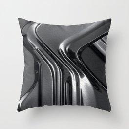 Black metal Throw Pillow