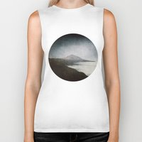 geology Biker Tanks featuring Mount Teide and dust by UtArt