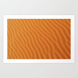 Golden Sand Art Print