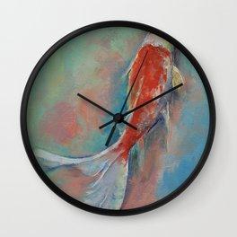 Pearl Banded Koi Wall Clock