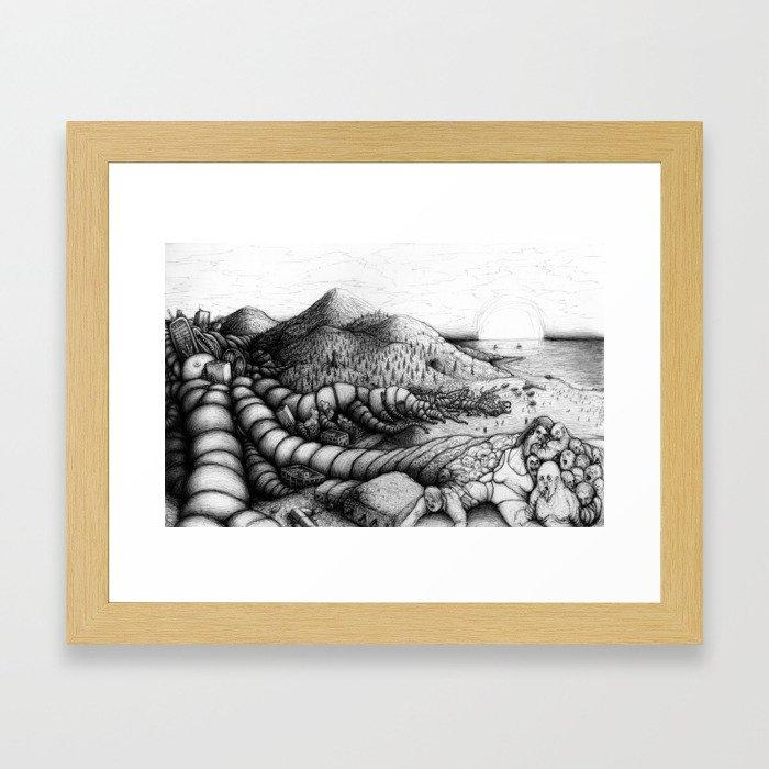 The Merger Framed Art Print