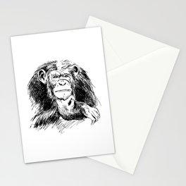 Drawing Chimpanzee Stationery Cards