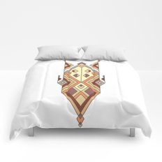 Vintage ethnic tribal aztec ornament Comforters