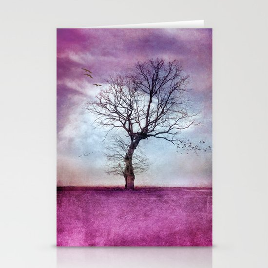 ATMOSPHERIC TREE   Pink Morning Stationery Cards