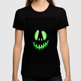HALLOWEEN. Jack O Lantern : Green T-shirt