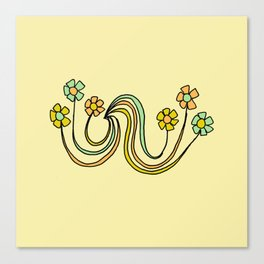 bloom where you are planted // waves and flowers Canvas Print