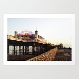 Brighton Palace Pier - Back to the Original Name Art Print