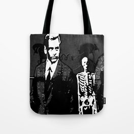 Dr. Hughes And The Skeleton In His Classroom Tote Bag