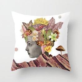 She Moves Mountains - White/Plain Background Throw Pillow